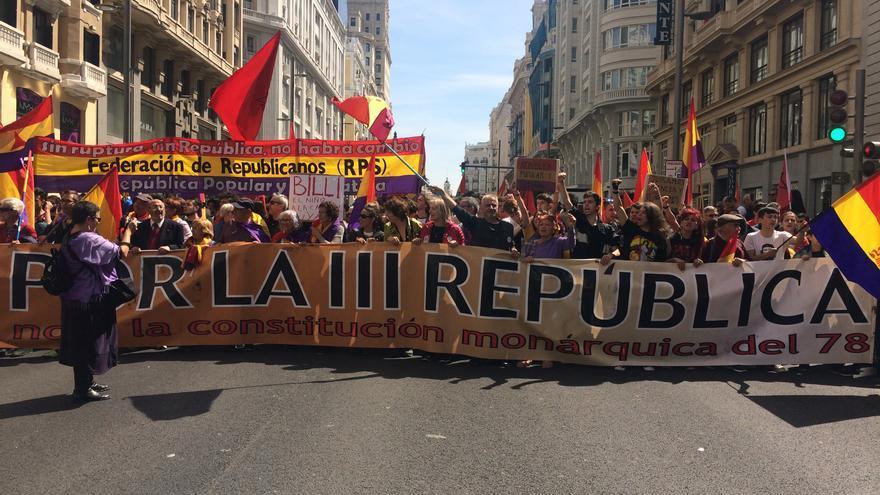Manifestación por la III República en Madrid