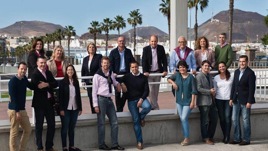 Los candidatos del PP al Ayuntamiento de Las Palmas de Gran Canaria.