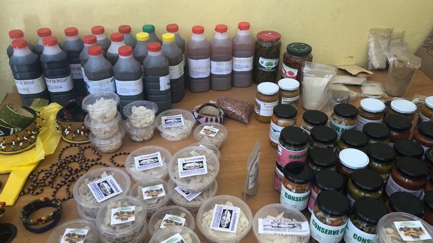 Productos elaborados por las mujeres de Thiaroye Sur Mer.