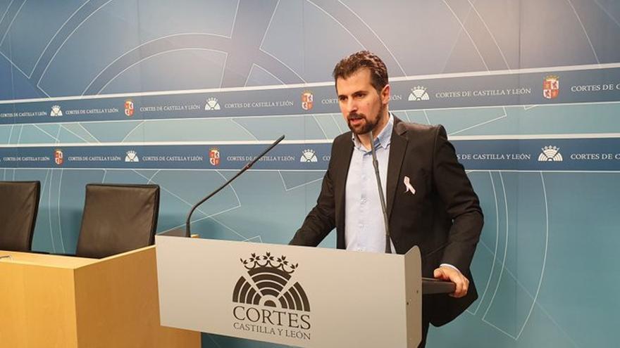 Luis Tudanca, tras la Junta de portavoces