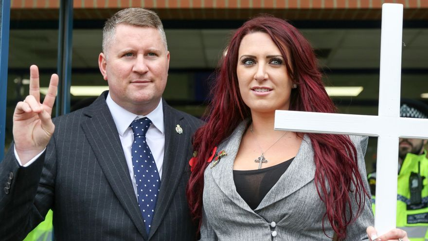 Paul Golding y Jayda Fransen, líderes del partido Britain First