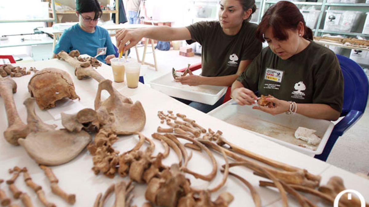 Trabajo de identificación de restos de Aremehisa en Aguilar de la Frontera