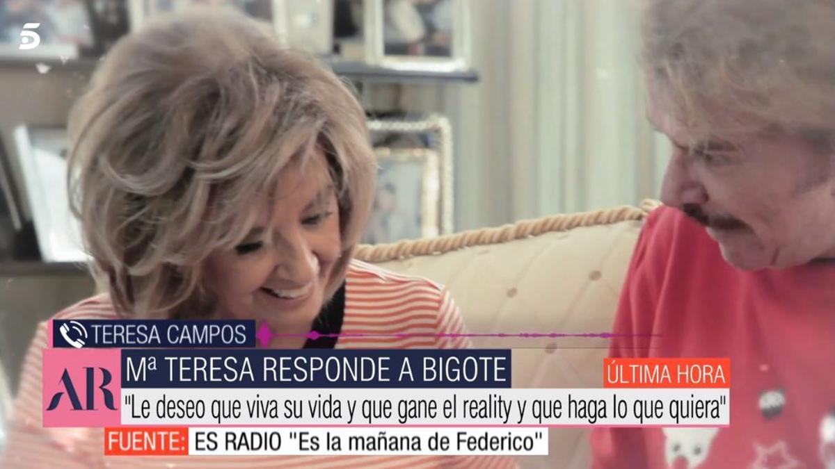 María Teresa Campos habla sobre las declaraciones de Bigote Arrocet