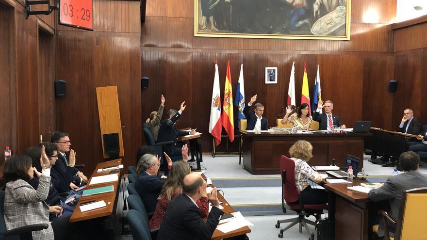 Pleno del Ayuntamiento de Santander.