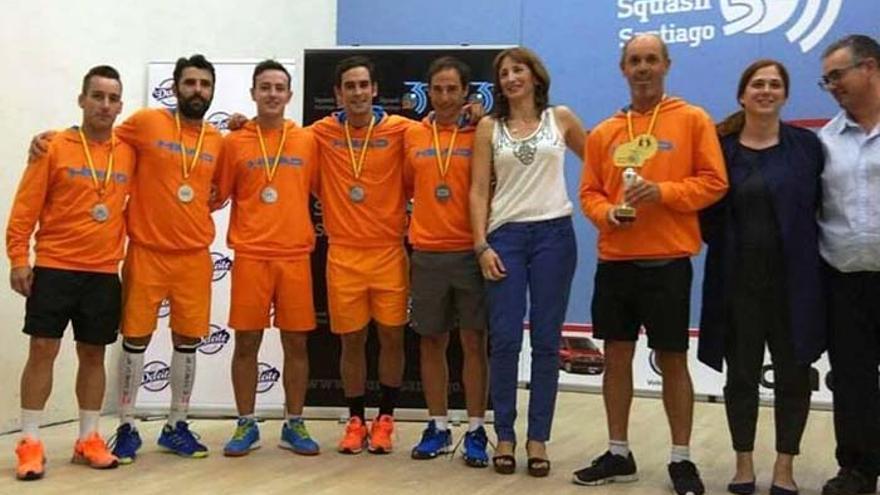 La selección andaluza de squash, subcampeona de España por comunidades autónomas