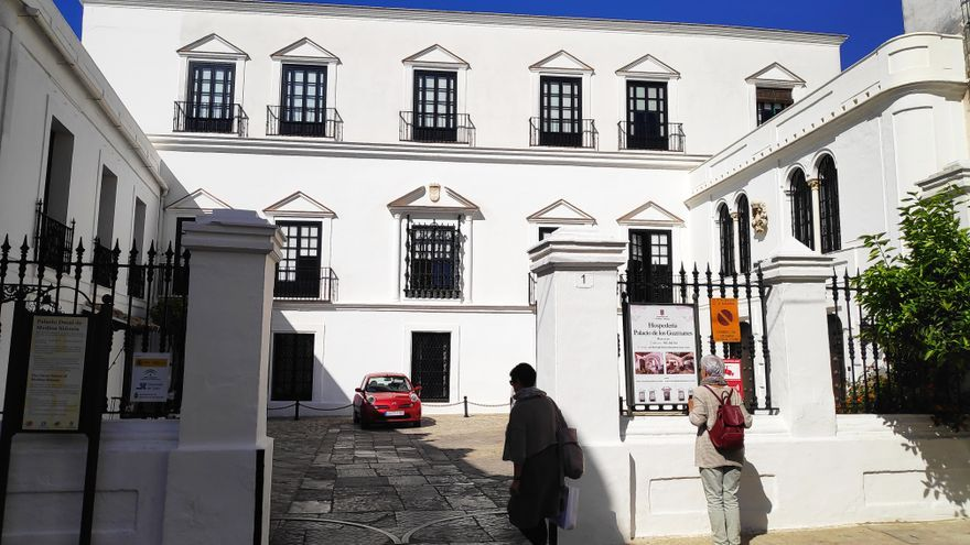 Fachada del Palacio Ducal de Medina Sidonia.