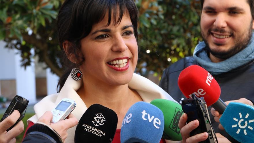 """Teresa Rodríguez critica que el PSOE """"está más cómodo postureando"""" con C's que hablando """"de cambios reales"""" con Podemos"""
