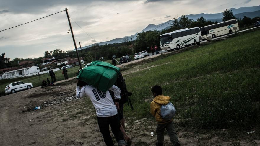 El campo de refugiados en Idomeni, frontera entre Grecia y Macedonia. (ANKOR RAMOS).