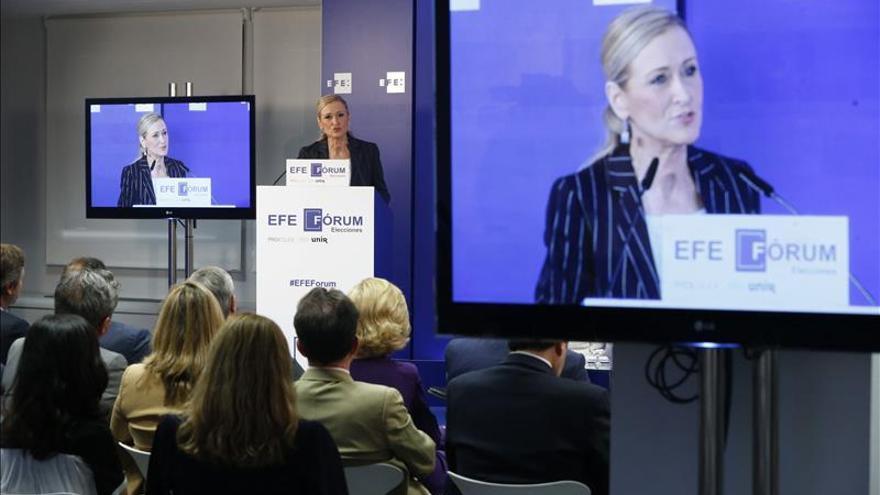 Los titulares de Cristina Cifuentes en el EFE Fórum Elecciones