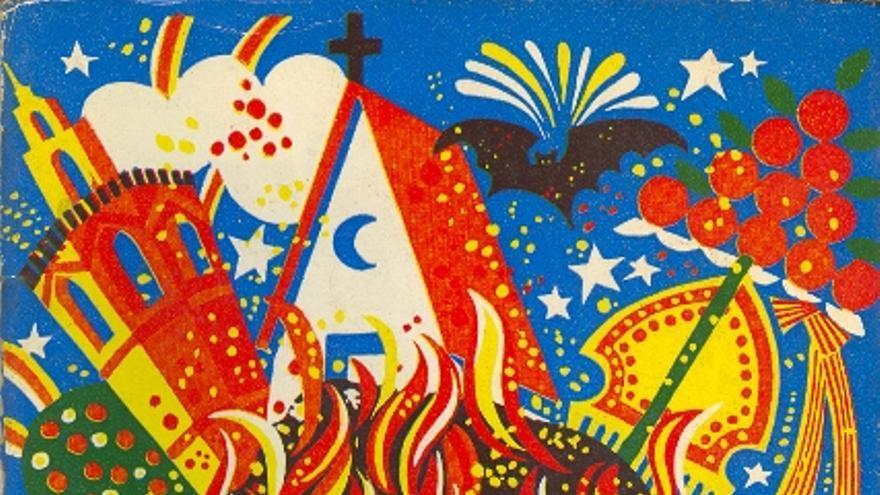 Coberta original del llibre d'Amadeu Fabregat 'Assaig d'aproximació a 'Falles folles fetes foc'.