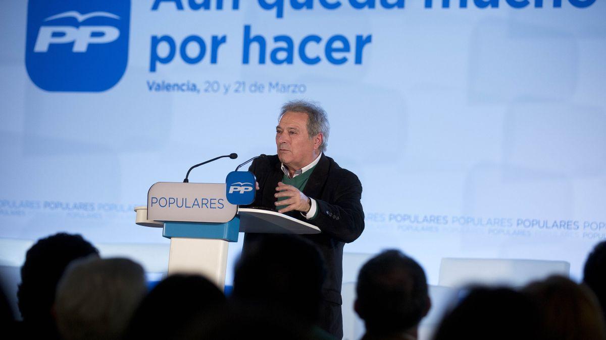 Alfonso Rus, expresidente de la Diputación de València, en un acto del Partido Popular.