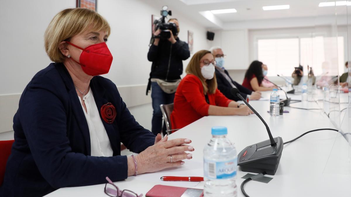 La presidenta de la Gestora del PSOE-M, Isaura Leal  EFE/ Mariscal/Archivo