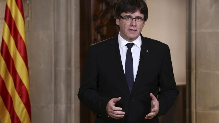 Puigdemont critica el mensaje del Rey e insiste en pedir una mediación