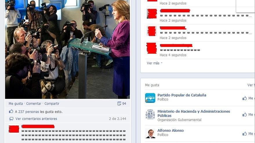 La página del PP en Facebook se llena de 'sobres' para mostrar la indignación ciudadana por los presuntos sobresueldos