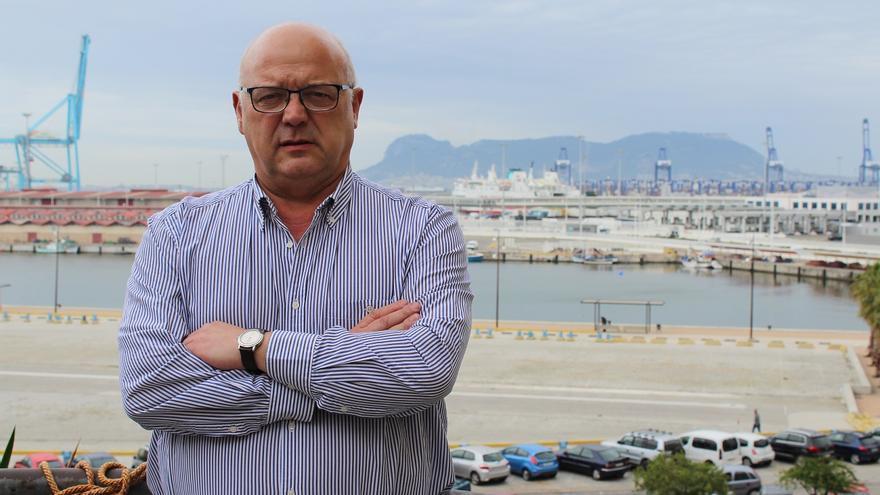 Miguel Alberto Díaz, posando en Algeciras.