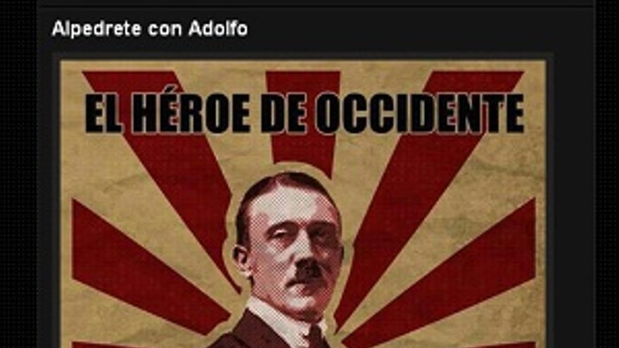 Imagen del Twitter del grupo neonazi de Alpedrete Orgullo Cantero.