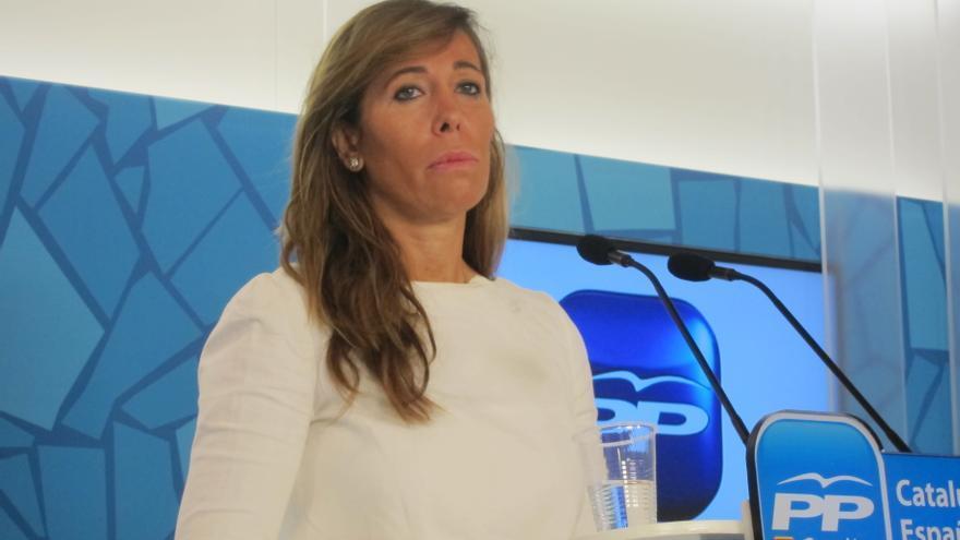 """Alicia Sánchez-Camacho avisa a la Generalitat de que el déficit no puede negociarse con """"imposiciones y amenazas"""""""