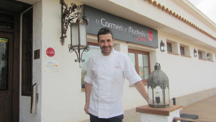 Iván Cerdeño, chef del restaurante El Carmen de Montesión / Foto: Diego Jimeno Manrique