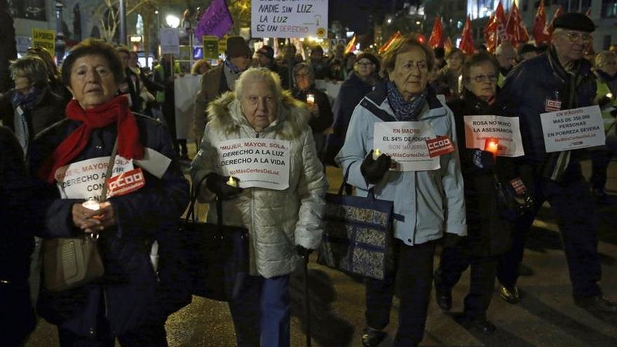 Cientos de personas protestan en Madrid contra la pobreza energética