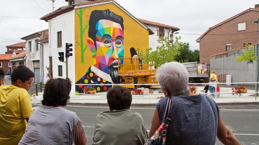 Okuda pintará mañana un mural en un lateral de la antigua Casa de Cultura Sánchez Díaz