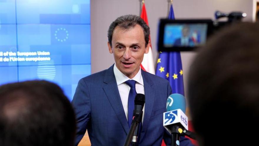 El ministro de Ciencia, Pedro Duque, este viernes en Bruselas.