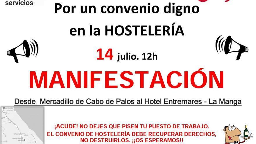 La protesta será el 14 de julio en La Manga a las 12:00 de la mañana