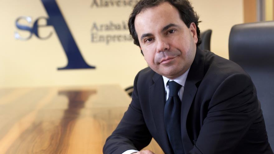 Pascal Gómez, presidente de SEA Empresarios Alaveses en la sede de la organización territorial.
