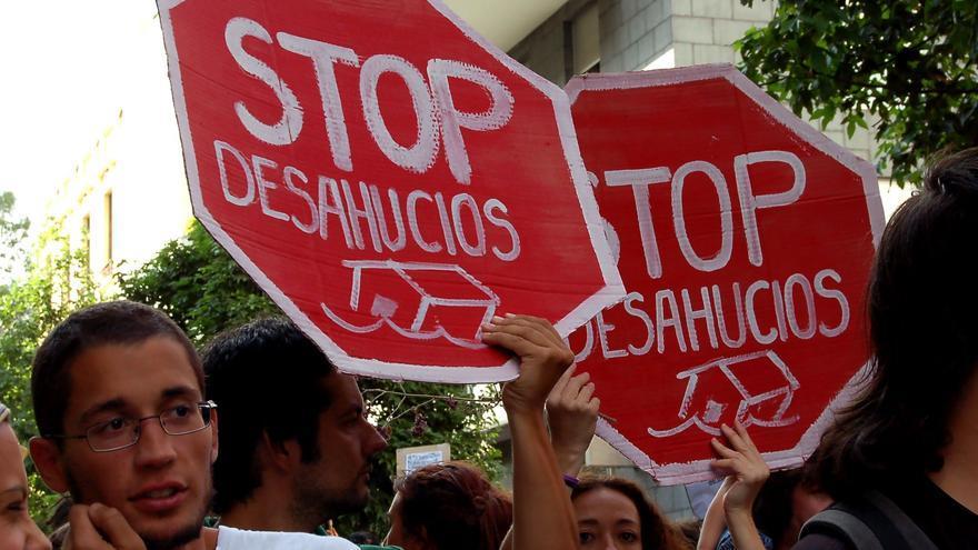 La plataforma 'Stop Desahucios' durante una manifestación