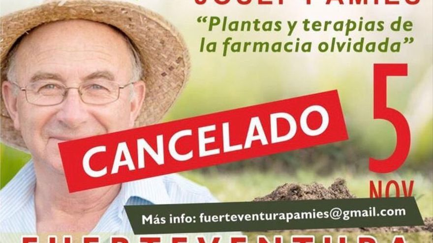 Charla cancelada en Fuerteventura.