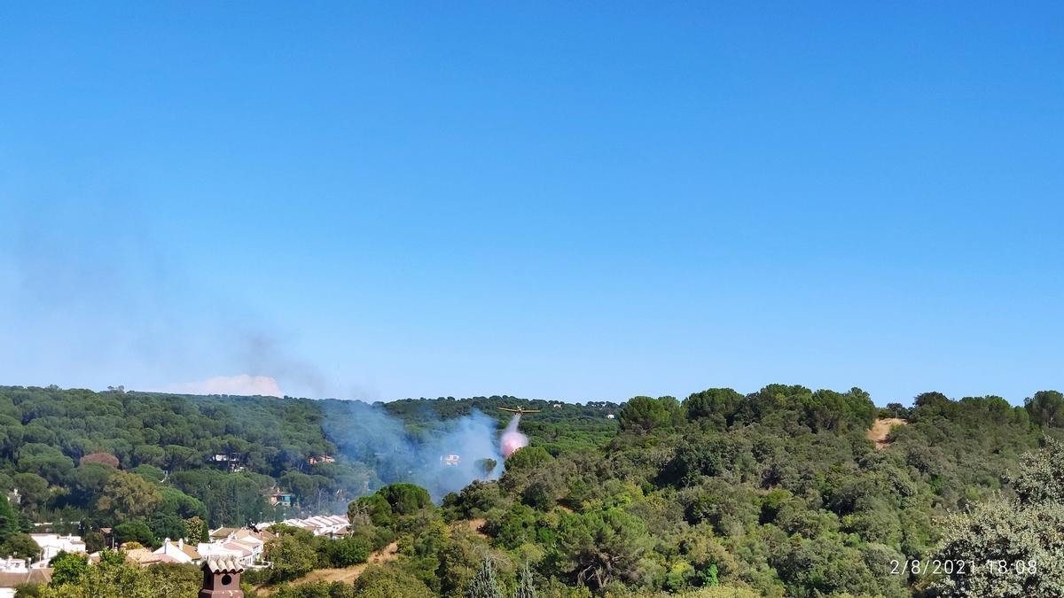 Humo del incendio visto desde Trassierra
