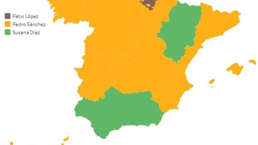 PSOE MAPA