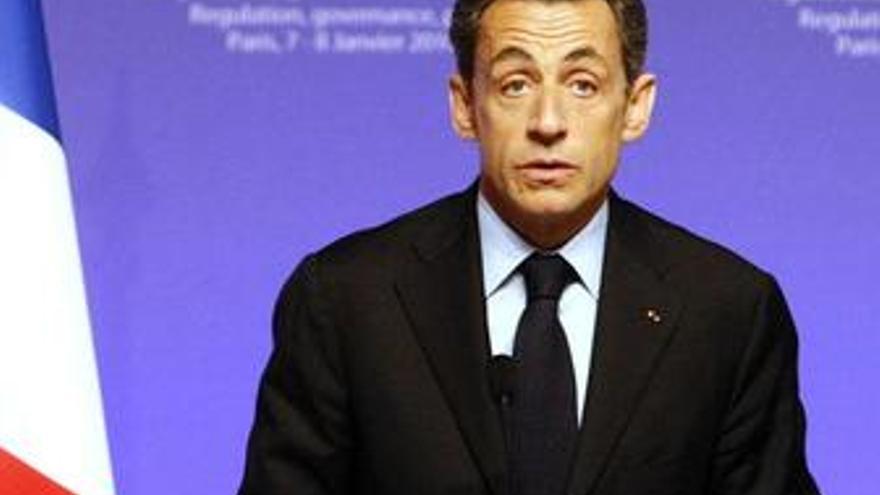 Sarkozy en RDP en París tras un encuentro sobre capitalismo