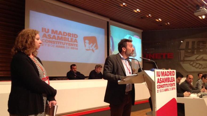 Mauricio Valiente y Chus Alonso, en la Asamblea Constituyente de IU de Madrid.