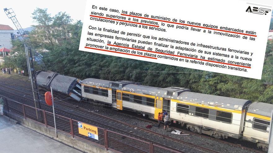 Modificación propuesta por Fomento y tren descarrilado en O Porriño (Pontevedra) en septiembre de 2016