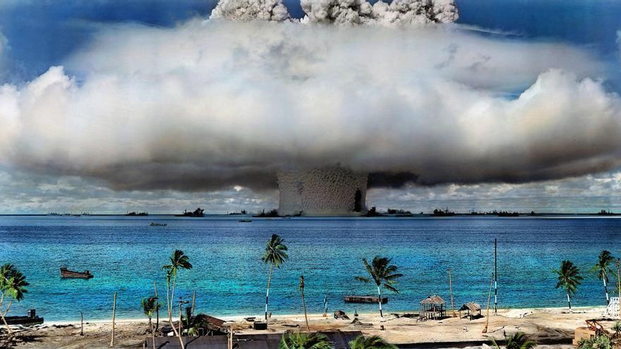 EEUU inició en 1946 las pruebas nucleares en el atolón Bikini de las Islas Marshall. © US Government/ICAN