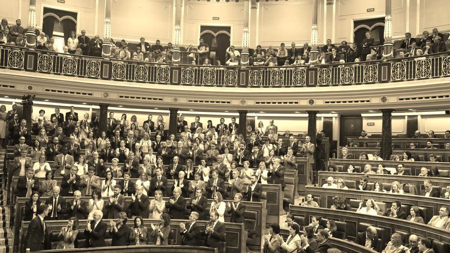 El Congreso de los Diputados, durante la segunda votación de investidura.