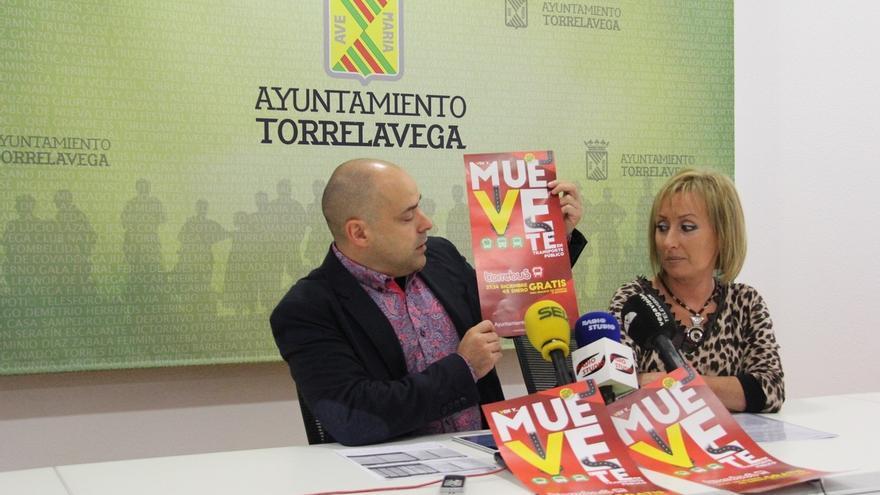 Torrelavega promueve el uso del transporte público y las compras en el comercio local en Navidad