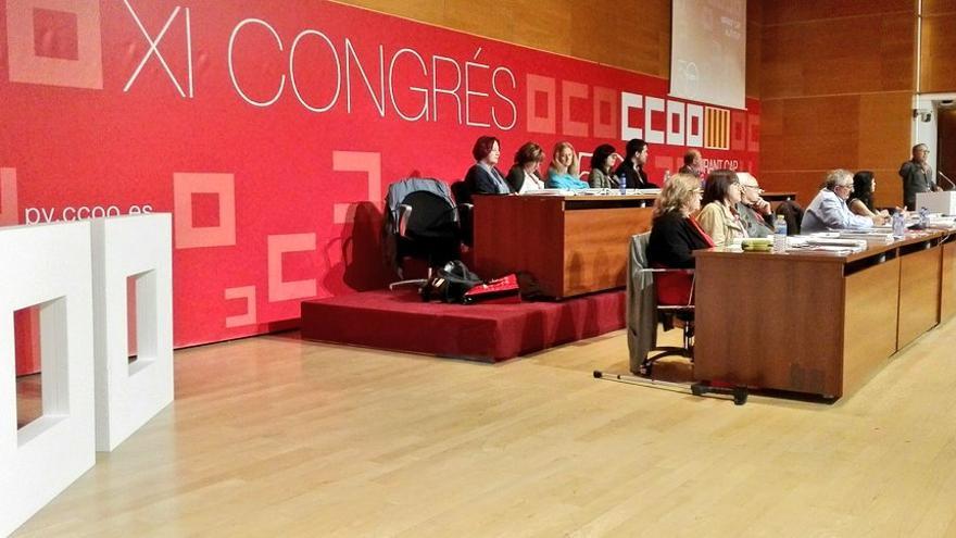 Un momento del Congreso de CCOO-PV