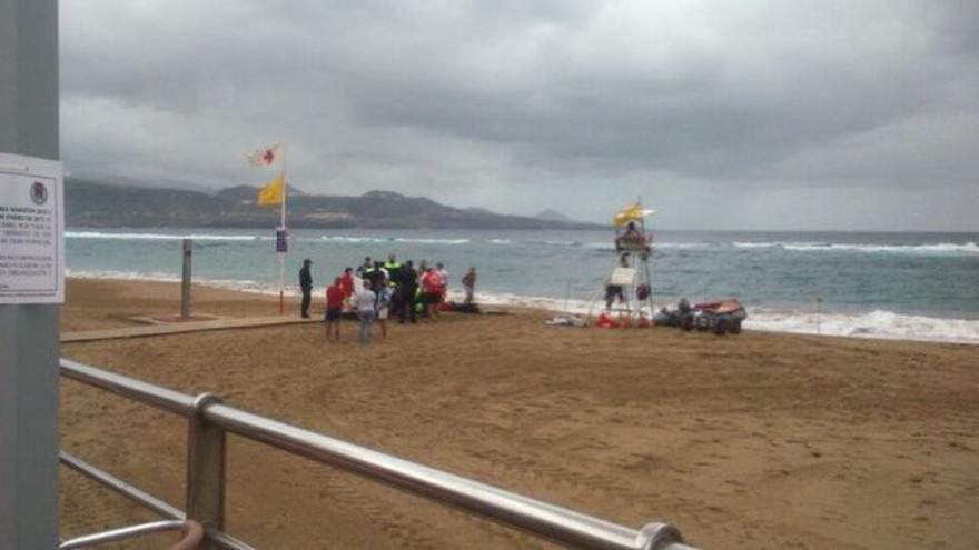 Persona fallecida por ahogamiento en Las Canteras (Gran Canaria), en una imagen de archivo