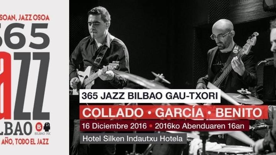 Collado-Benito-García Trío protagoniza el último concierto del ciclo 'Jazz Bilbao Gau-Txori'
