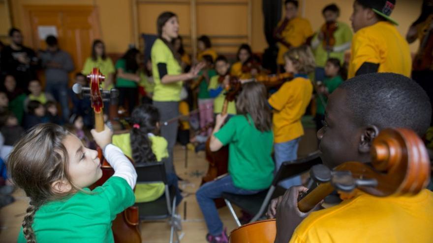Proyecto musicosocial DaLaNota, en Madrid. Fotografía de Ignacio Gil.
