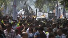 Imagen de la manifestación de los taxistas en Madrid el pasado 30 de mayo.