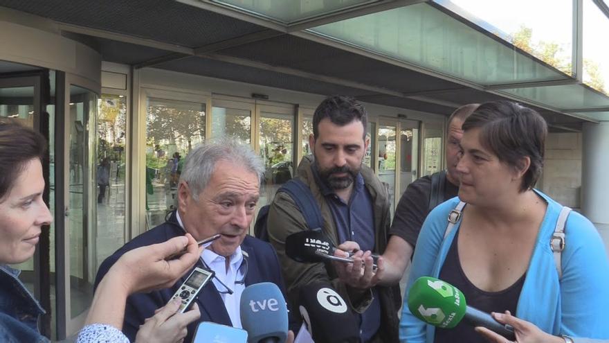 Alfonso Rus a su salida de la Ciudad de la Justicia de Valencia