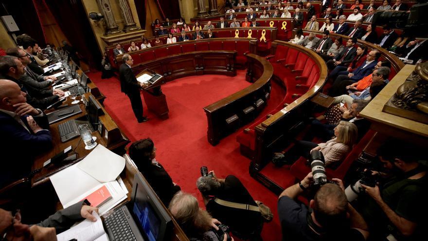 Imagen del hemiciclo durante el debate de investidura