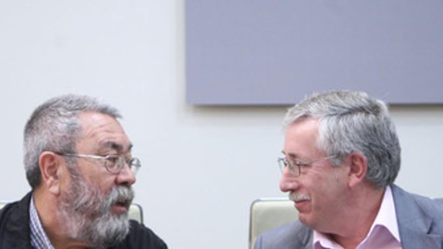 Secretarios generales de CC.OO. y UGT, Ignacio Fernández Toxo y Cándido Méndez