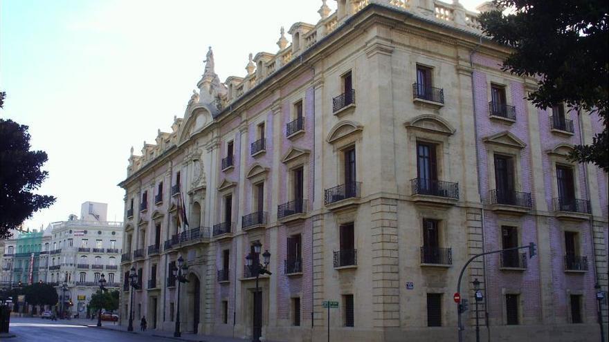 El Palacio de Justicia de Valencia, sede del TSJ, actualmente objeto de rehabilitación.