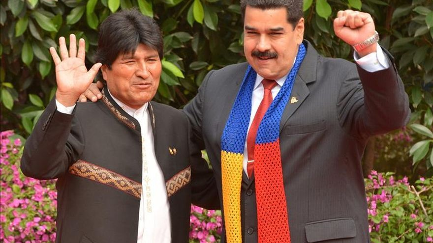 """Bolivia respalda a Maduro y repudia los """"planes conspirativos"""" en Venezuela"""