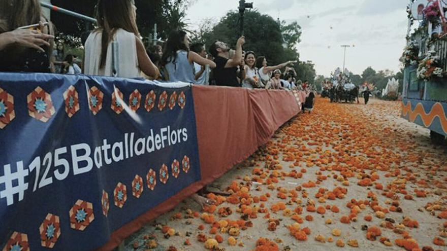 Imagen de la pasada edición de la Batalla de Flores