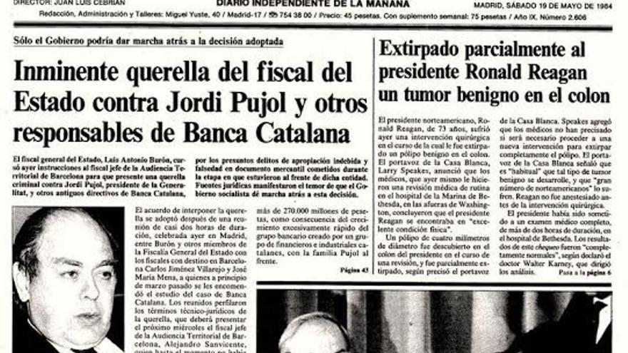 El caso Banca Catalana salpicó a Jordi Pujol. / El País