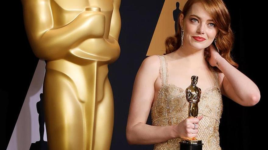 """Emma Stone, ganadora del Óscar a la mejor actriz por """"La La Land"""""""